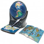 Der Oregon Scientific SG18 Smart Globe mit Buch