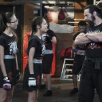 "BIZAARDVARK - ""Unboxing"" - When Dirk leads the gang in a circle of truth exercise, Frankie learns Paige has been secretly taking MMA lessons and decides to join in on the fun. This episode of ""Bizaardvark"" airs Sunday, August 07 (9:00 - 9:30 P.M. EDT) on Disney Channel. (Disney Channel/Eric McCandless) MADISON HU, OLIVIA RODRIGO, KEVIN MAKELY"