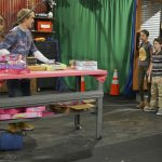 "BIZAARDVARK - ""Unboxing"" - When Dirk leads the gang in a circle of truth exercise, Frankie learns Paige has been secretly taking MMA lessons and decides to join in on the fun. This episode of ""Bizaardvark"" airs Sunday, August 07 (9:00 - 9:30 P.M. EDT) on Disney Channel. (Disney Channel/Eric McCandless) JAKE PAUL, OLIVIA RODRIGO, ETHAN WACKER, MADISON HU, DEVORE LEDRIDGE"