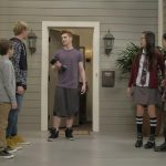 "BIZAARDVARK - ""Frankie Has a Hater"" - When they girls receive mean comments about their videos, Frankie begins to lose her confidence and becomes obsessed with finding who wrote them. This episode of ""Bizaardvark"" airs Sunday, July 17 (8:30 - 9:00 P.M. EDT) on Disney Channel. (Disney Channel/Tony Rivetti) ZACHARY CONNEEN, MADISON HU, OLIVIA RODRIGO"