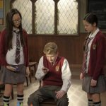"""BIZAARDVARK - """"Frankie Has a Hater"""" - When they girls receive mean comments about their videos, Frankie begins to lose her confidence and becomes obsessed with finding who wrote them. This episode of """"Bizaardvark"""" airs Sunday, July 17 (8:30 - 9:00 P.M. EDT) on Disney Channel. (Disney Channel/Tony Rivetti) MADISON HU, JOE GRAHAM MATTHEWS, OLIVIA RODRIGO"""