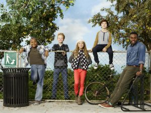 Die neue Prank Show im Disney Channel- - SCHRECK ATACK Stars Brandon Severs as Dusty, Cody Veith as Chance, Jillian Shea Spaeder as Bailey, Bryce Gheisar as Herman and Tobie Windham as Uncle Will. (Disney XD/Craig Sjodin)