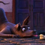 """GIVE THE DOG A BONE — An unlikely star of Disney•Pixar's """"Coco,"""" Dante is a Xolo dog—short for Xoloitzcuintle—the national dog of Mexico. Nearly hairless and missing some teeth, Dante has trouble keeping his tongue in his mouth. But he's a loyal companion to Miguel, an aspiring musician who hopes to follow in the footsteps of his idol Ernesto de la Cruz. Featuring the voice of newcomer Anthony Gonzalez as Miguel and Benjamin Bratt as de la Cruz, """"Coco"""" opens in theaters Nov. 22, 2017. ©2017 Disney•Pixar. All Rights Reserved."""