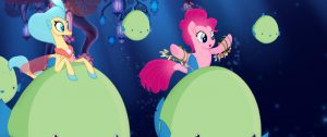 PRINCESS SKYSTAR (Kristin Chenoweth) and PINKIE PIE (Andrea Libman) in MY LITTLE PONY: THE MOVIE