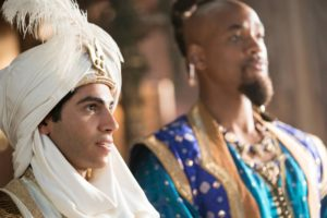 Mana Massoud is Aladdin and Will Smith is Genie in Disney's live-action ALADDIN, directed by Guy Ritchie.